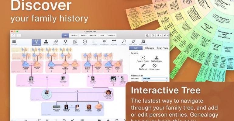 Mac FamilyTree 9/好用的家谱制作软件