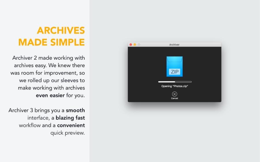 Archiver 3.0.7 /功能强大好用的Mac的解压缩软件