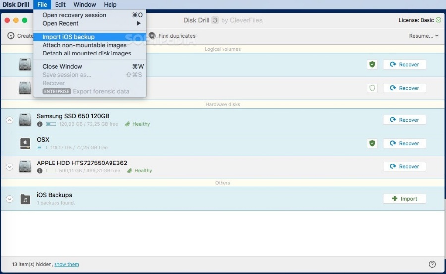 Disk Drill Enterprise 3.7.9-MAC上好用的数据恢复神器PJ版