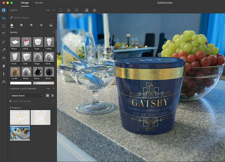 Adobe Dimension CC 2019 2.3 WIN & MAC – 3D 图形创建工具破解版