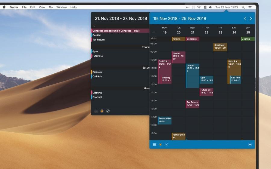 Calendar 366 II-菜单栏日历-MACOS-TNT